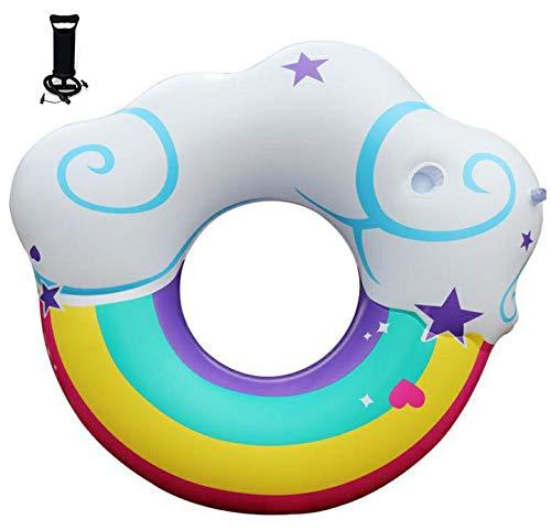 ZHYY Inflable Anillo de natación Bomba de Aire PVC Engrosado Arco ...