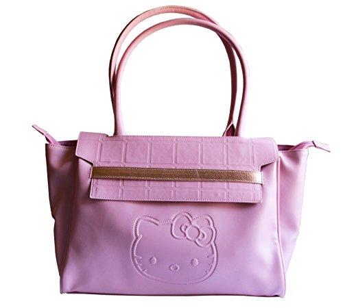 Hello Kitty Limited Edition Adorable Fancy Pink Satchel Handbag Purse Smoky Pinkish Collection