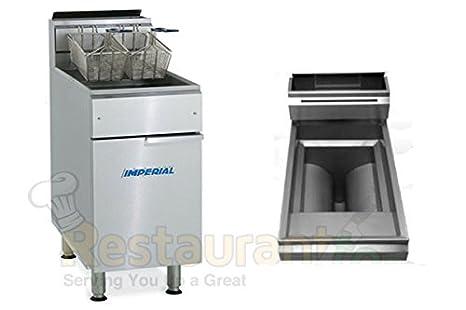 Amazon.com: Imperial Comercial Freidora gas-open olla de ...