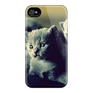 New Style Tpu 4/4s Protective Case Cover/ Iphone Case - Animals Littens