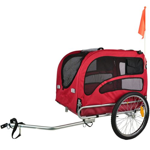 Doggyhut Large Pet Bike Trailer / Jogger Kit Dog Bicycle Carrier Red 7030201 by Veelar (Image #1)