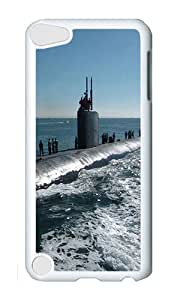 iPod 5 Case,VUTTOO Cover With Photo: Us Navy At Sunset Submarine Military For iPod Touch 5 - PC White Hard Case