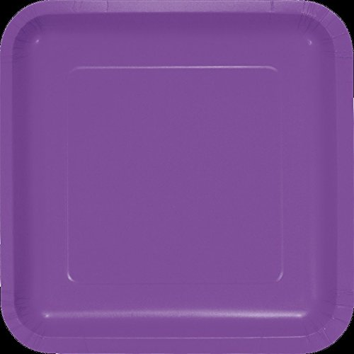 - Club Pack of 180 Amethyst Purple Premium Durable Paper Square Dinner Plates 9