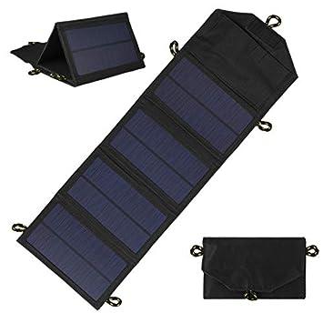 CUHAWUDBA 7W Cargador Solar Plegable Al Aire Libre Panel ...