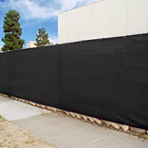 Fencescreen brand 50 39 black windscreen fence for 8 foot high outdoor privacy screen