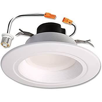 Amazon halo 90cri led recessed retrofit rl light with baffle halo rl 5 in and 6 in matte white integrated led recessed retrofit downlight mozeypictures Image collections