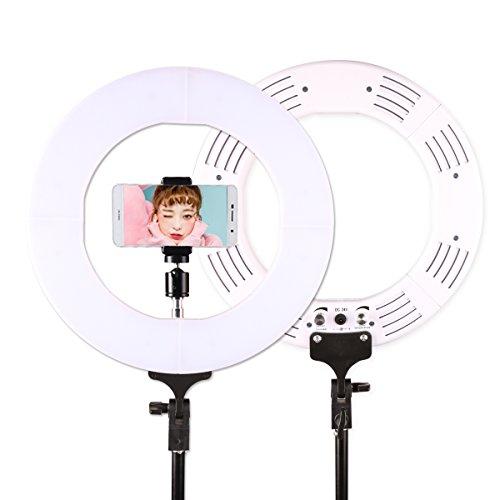 GSKAIWEN RL-12 Inch LED Photography Video Studio Ring Light Annular Lamp 3200K-5500K Dimmable Diital Lamp Light For Video Camera Phone (White) by GSKAIWEN
