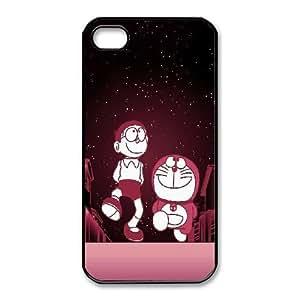 iphone4 4s Phone Case Black Doraemon WQ5RT7447634