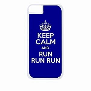 Zheng caseKeep Calm And Run, Run, Run.-Hard White Plastic Snap - On Case-Apple Iphone 6 Plus Only - Great Quality!
