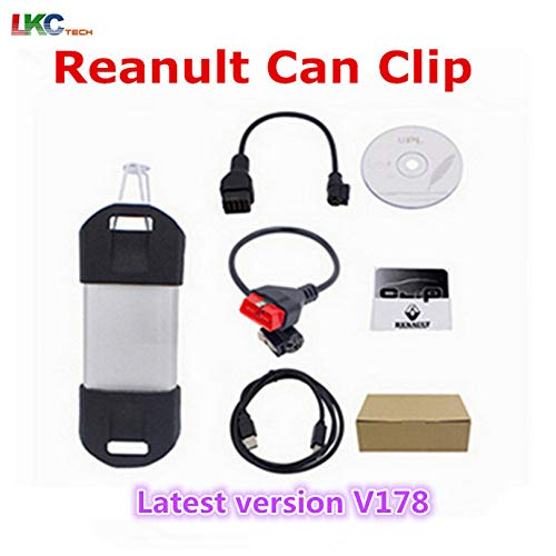 LKCAUTO Tech 2018 for Version V178 Re-Nault Can Clip Professional Diagnostic Tool with Multi-Language