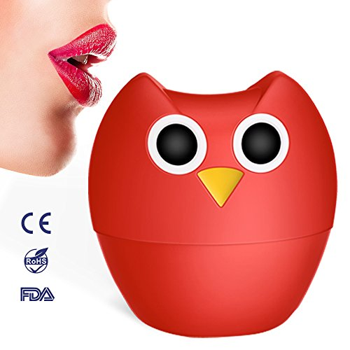 Lip Plumper Enhancer - MEXITOP NANA Owl Soft Silicone Lip Filler Plumping Device, Natural Fuller Thicker Sexy Quick Lip Enhancement Enlarger Tool, Amazing Effect Using w/ Lip Gloss (Multiple Styles)