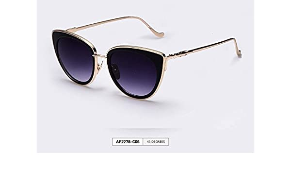 f2f3774b25 AOFLY Metal Frame Cat Eye Women Sunglasses Female Sunglasses Famous Brand  Designer Alloy Legs Glasses oculos de sol feminino, Sunglasses - Amazon  Canada