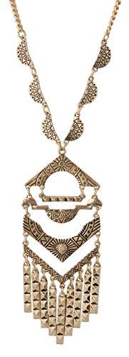 Long Ethnic Fringe Necklace SPUNKYsoul