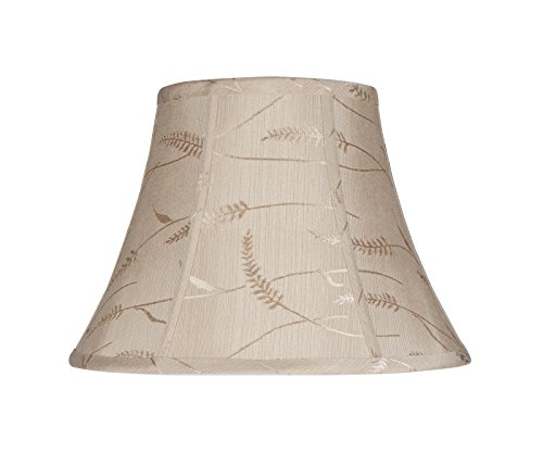 Aspen Creative 30092 Transitional Bell Shape Spider Construction Lamp Shade in Oatmeal, 13