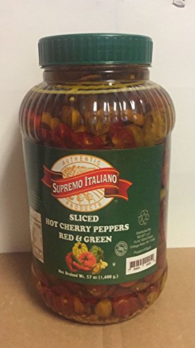 Supremo Italiano Sliced Hot Cherry Peppers (Red & Green) 1.6 Kg