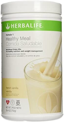 Herbalife Formula 1 Vanilla nutrition shake mix. Gesunde Nahrung für Gewichtsverlust