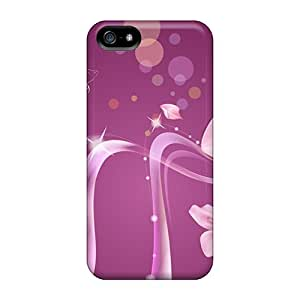 Snap-on Cases Designed For Iphone 5/5s- Swirl Flowers Vector