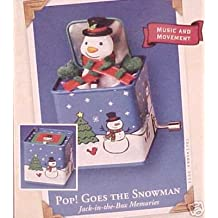 Hallmark Keepsake Ornament - Pop! Goes the Snowman - First in Jack-in-the-Box Memories Series 2003 (QX8457)