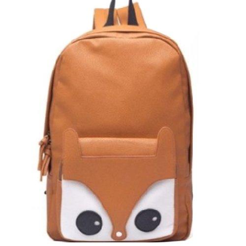 Finejo Bag Women's Owl Shoulder Backpack Fox Brown Satchel rwrnOCqx