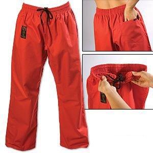 Gladiator ProForce 8oz Combat Karate Pants Red Size 6 by Gladiator