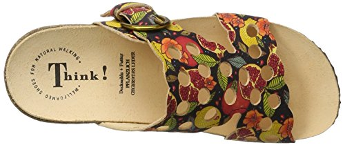 Think Mizzi, Mules para Mujer Multicolor (Multicolour 99)