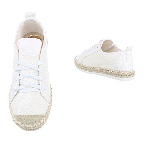 Sneakers Basse Sneakers Basse Sneakers Basse Italiane Design Casual Bianco, Gr 37, B754s-bl