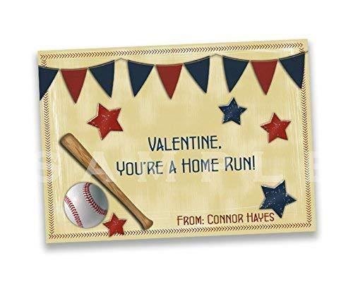 Amazoncom Vintage Baseball Valentines Day Cards Boy