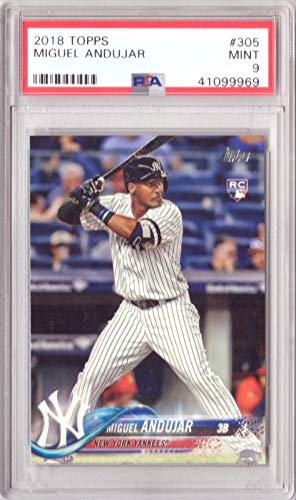 2018 Topps Baseball #305 Miguel Andujar Rookie Card Graded PSA 9 Mint