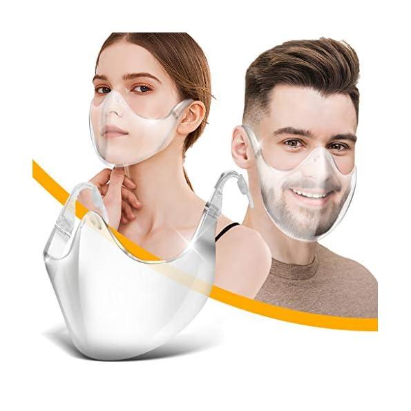 ASHOP-GesichtsschutzPlexiglas-Waschbare-Wiederverwendbare-FaceVisier-fr-Herren-Damen-Transparente-Offene-FaceShield-GesichtsschutzSicherheitsgesichtsschutz-1-Stck-Wei