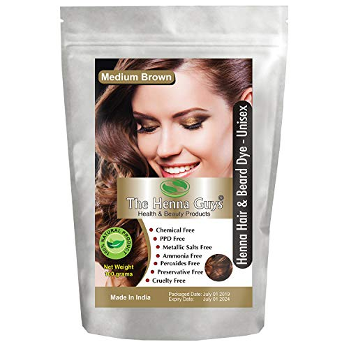 (The Henna Guys Henna Hair and Beard Color/Dye, Medium Brown)
