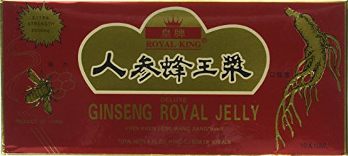 Royal Jelly 10 Vials - GINSENG PRODUCTS Ginseng & Royal Jelly In A Honey Base 10 Vial, 0.02 Pound