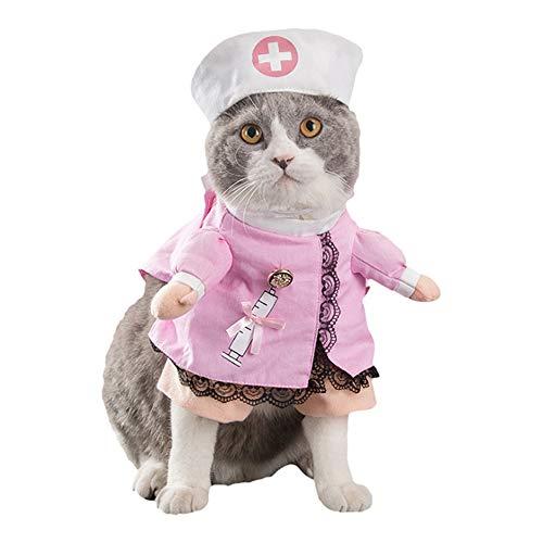 SEHOO애완동물복 코스프레 묘견복 대변신 재미있 제복 코스튬 재미있 귀엽 의사 노인복지,실버슈즈사 기사(노인복지,실버슈즈사,S)