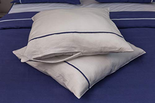 Soft and Durable Linen Pillowcase Set - King Size Sham 20X36