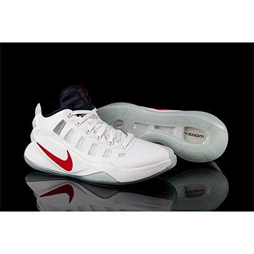 Nike Hyperdunk 2016 Low, Scarpe da Basket Uomo Blanco (White / Dark Obsidian-bright Crimson)