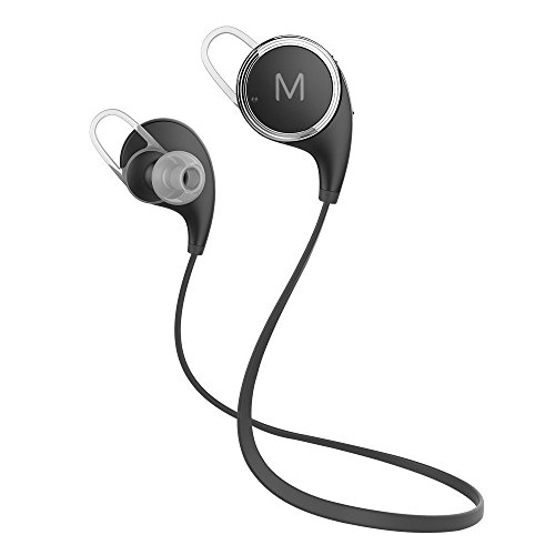Bluetooth Headphones,Maxtronic QY8 V4.1 Wireless Earbuds Lightweight Heavy Bass Noise Isolating with Microphones Flat Cord Stereo Wireless Earbuds Headset Earphones For Running & Gym