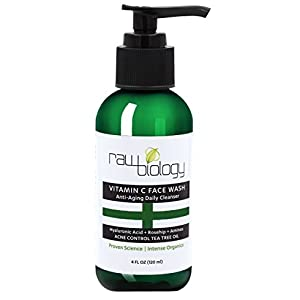 BEST Vitamin C Face Wash Won't Dry Skin Out. ANTI AGING & ADULT ACNE Control. All in 1 Cleanser, Toner, and Wrinkle Reducer.