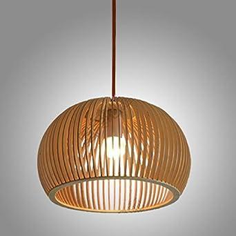 KJLARS Retro Pendelleuchte Lndlich Hngelampe Lampenschirm Aus Holz