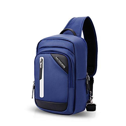 Cycling Sac Port Bag Hiking Déséquilibrer Bleu Travers USB Bandoulière dos FANDARE Ecole Plein Polyester Air à Bag Bag Sacs Bag de Porté Crossbody Sling Bleu Chest Sports Trekking f5WxSvzq