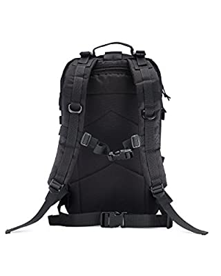 Tactical Backpack with 2L Hydration Bladder for When You Only Have Seconds - 35L Military Backpack, Bug Out Bag, Go Bag, Molle Pouch for All Your Survival Gear - Lightweight, Strong, Water Resistant
