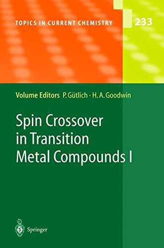 Spin Crossover in Transition Metal Compounds I (Compounds Metal Transition)