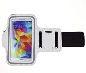 Margoun Sports Running Arm band Bag with key holder compatible with Samsung Galaxy C9 Pro - White