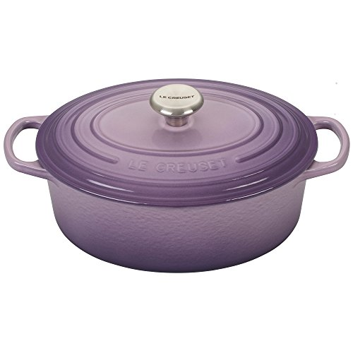(Le Creuset Signature Provence Enameled Cast Iron 2.75 Quart Oval Dutch Oven)