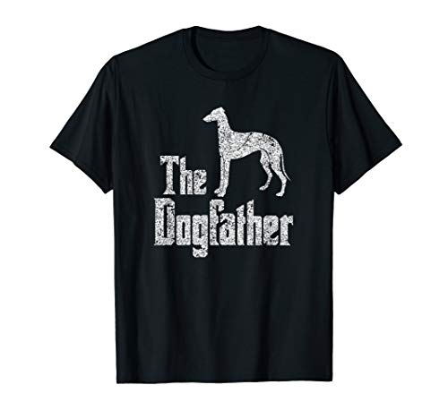 The Dogfather T-Shirt Greyhound, funny dog gift idea