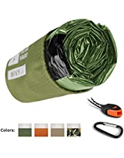 Bearhard Emergency Sleeping Bag Emergency Bivy Sack Ultralight Waterproof Thermal Survival Bivvy Cover with Heat Retention for Camping, Hiking & Emergency Shelter …