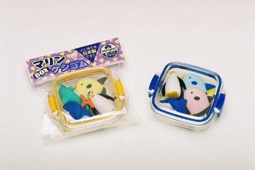Ocean Sea Life Japanese Eraser Set, 4 Piece. By PencilThings