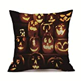 Bollysky Halloween Party Decorations Cushion Covers Happy Halloween Sofa Bed Home Decoration Festival Pillow Case Cushion Cover
