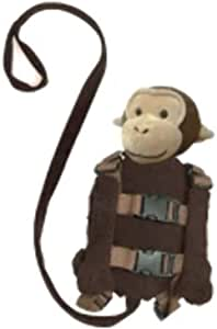Playette 2 in 1 Harness Buddy Monkey, Brown