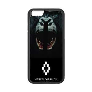 MARCELO BURLON 06 funda iPhone 6 Plus 5.5 pufunda LGadas funda del teléfono celular de cubierta, funda del teléfono celular de plástico negro