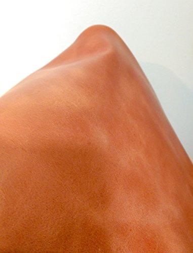 NAT Leathers Brown Cognac Tan Weekender Two Tone Distressed Upholstery Chap 17-19 Square Feet 2.5-3.0 Oz Cowhide Genuine Leather Hide Skin (30