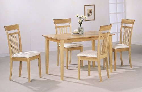Coaster Home Furnishings Casual Dining Room 5 Piece Set, Oak/White